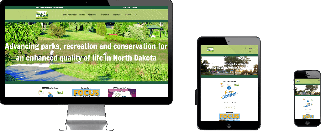 WEBSITE LAUNCH – North Dakota Recreation and Parks Association