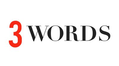 My Three Words – 2018